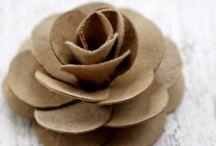 rosa de papel
