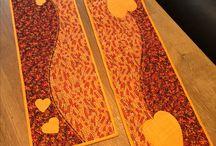 Autumn table runner