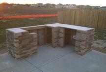 outdoor kitchen stone - летняя кухня из камня