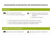 CamperDays Camping-Infografiken / Infographics / Campen ist mit vielen Regeln verbunden - Wir erklären komplizierte Themen möglichst einfach in übersichtlichen Infografiken!