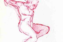 Figure in motion / Drawings of human body in motion