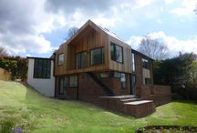Contemporary Timber Clad Cantilevered Extension in Winchester