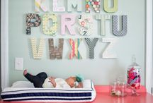 Letters in your child's room - interior decoration /