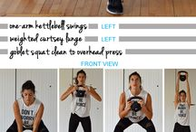 fitness : Kettlebell workout