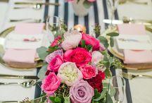 Pink & Black Flower/Table Decor