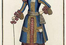 17th century fashion plates - Men