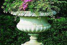 garden pot's / stone garden pot