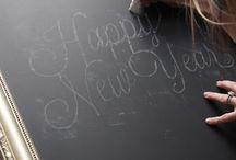 home | chalkboard wall / by Mackenzie Slayton