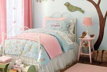 Bird themed girls room