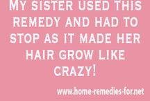 My sister.used this remedie: it made her hair grow crazy. she had to stop using this.
