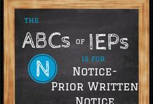 the ABCs of IEPs / Everything you need to know about IEPs and Special Education from A to Z. / by Lisa at ADayInOurShoes.com