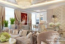 Интерьер квартиры в стиле модерн в ЖК Итальянский Квартал / Интерьер выполнен в стиле модерн для квартиры в ЖК Итальянский Квартал. В гостиной объедены зоны кухни и столовой. Это создаёт больше пространства для комфортного общения. За счёт трепетного выбора декоративных элементов, во всех комнатах чувствуется тепло и уют. Дизайн выполнен в спокойных и мягких тонах.