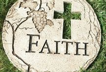 Inspirational Garden Stones / Have an amazing garden!  Adorn your garden with Garden Stones, Benches, Totems and Ornaments with display the word of God or a Christian Symbol.