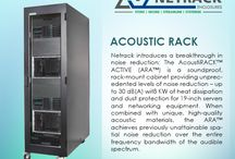 Acoustic Rack / Acoustic Rack: Netrack introduces a breakthrough in noise reduction: The Acoustic rack is a soundproof, rack mount cabinet providing unprecedented levels of noise reduction.