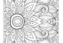 Coloring Books For Adults : Free ;) / Coloring Books for Adults is very hype in my country. I try to buy it, but it's very expensive :'( So, i remember to find it in Pinterest, and VOILA! I don't own all of picture of this coloring pages. I just collect all of this ;) Enjoy! :)