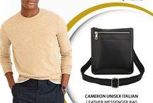 Cameron black unisex cross body bag