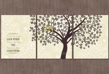 Sage green and chocolate brown nursery / Sage Green and chocolate brown nursery art prints love birds nursery