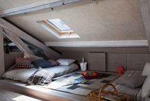 Projet - *Liégeois* / chambre parentale / Transformation des combles en chambre parentale avec mezzanine.