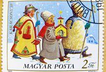Hungarian poststamps &postcards