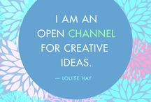Louise Hay affirmation. / How I start my day.