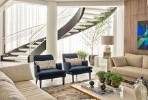 sofá e almofadas casa