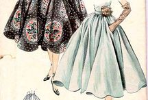 1950s flared skirts / by Sarah Foulkes