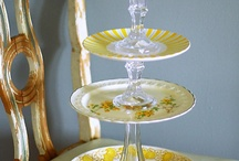 Cake Cupcake Stands ~ Upcycled Repurposed Reuse / vintage inspired, cake stand, cupcake stand, pedestal stands, candle holder, soap dish, jewelry dish, dessert pedestal stand, home decor, wedding decor, bridal shower, serving, dinnerware, kitchenware, tablewares, dresser vanity, bathroom accessories, repurposed, upcycled, handmade, homemade,
