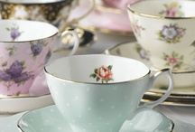 Time for Tea / Pretty china cups and teapots.