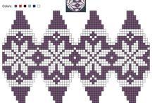 korálky vzory a schémata