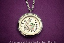 Stamped Lockets by Mel / by Melissa Fransaw