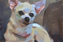 Painting dogs