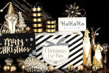 Christmas Home Accessories / Golden Grandeur, black and gold, luxury Christmas home accessories, Christmas ornaments and baubles