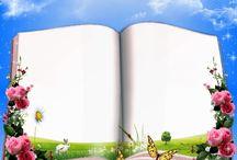 decoupage books, scrolls