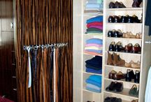 Closets and cabinets / Designed and built by Gillian Wells, Interior architect for living organized.