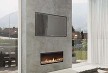 Linear fireplace