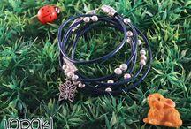 Fairy Bracelets-Leather and Colors / Handmade Bracelets!