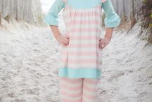 SS16 Saltwater Taffy / Saltwater Taffy, our newest collection full of sweet pastels and stripes! Purchased at www.swankybabyvintage.com