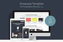 Mockup / Flat Responsive Showcase Psd Vol2