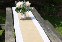 Wedding Table Plans and Styling / http://thebeautifulday.co.uk Table runners, tablecloths, candle holders...