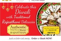 Diwali Sweets / This Diwali, add merriment with special sweets and delicacies. Welcome the joyous Lights festival with RoyalBikaner Mithai, laughter and cheer. Logon to RoyalBikaner.com for online orders OR Whats App +919945613666...