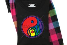 Gay Pride Pajamas by GayT-Shirts.com / Gay Pride Pajamas by GayT-Shirts.com, soft and oh so comfortable for after work and watching TV. All in rainbow pride colors combined with the best gay t-shirt designs by GayT-Shirts.com.