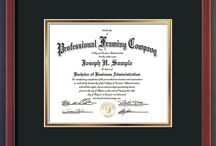 Custom Document and Certificate Frames / Exquisitely crafted to exacting specifications of your document or certificate and framed using hardwood moulding and all archival materials, including UV glass to prevent fading from sunlight AND indoor incandescent lighting! Each frame exceeds Library of Congress standards for document preservation and includes a 100% lifetime guarantee, ensuring that a hard-earned achievement will be honored and protected for generations.