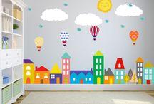 Kids bedroom wall
