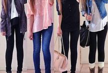 School outfits / Some cute outfits for school, if you go to a no uniform school that is :P