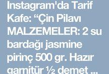 """Instagram'da Tarif Kafe: """"Çin Pilavı MALZEMELER: 2 su bardağı jasmine pirinç 500 gr. Hazır garnitür ½ demet maydanoz ½ demet dereotu 4 adet yeşil soğan 1 adet…"""" • Instagram"""