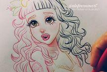 Melanie Martinez Drawing