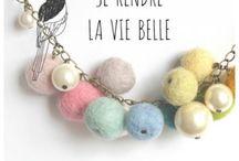 bijoux laine feutrée