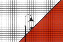 """Ilustraciones Minimalista de Dhavebaj Anupabsthian / Muchas más Ilustraciones de Dhavebaj Anupabsthian como ésta las puedes encontrar en el apartado de """"Recortes"""" del """"Blog de Creatividad de Marielo García"""""""