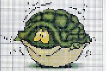 Cross stitch - turtles