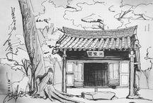 스케치 sketch - 건물 및 인테리어관련 architecture and interior